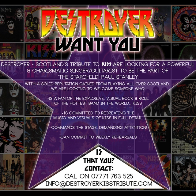 Destroyer- Scotland's Tribute to KISS
