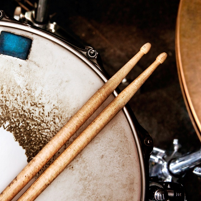 James plays drums