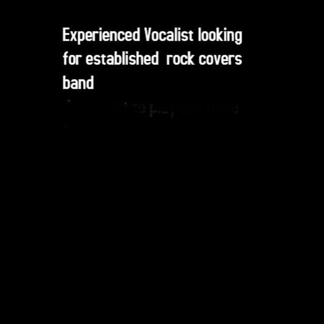 vocalist seeking covers band